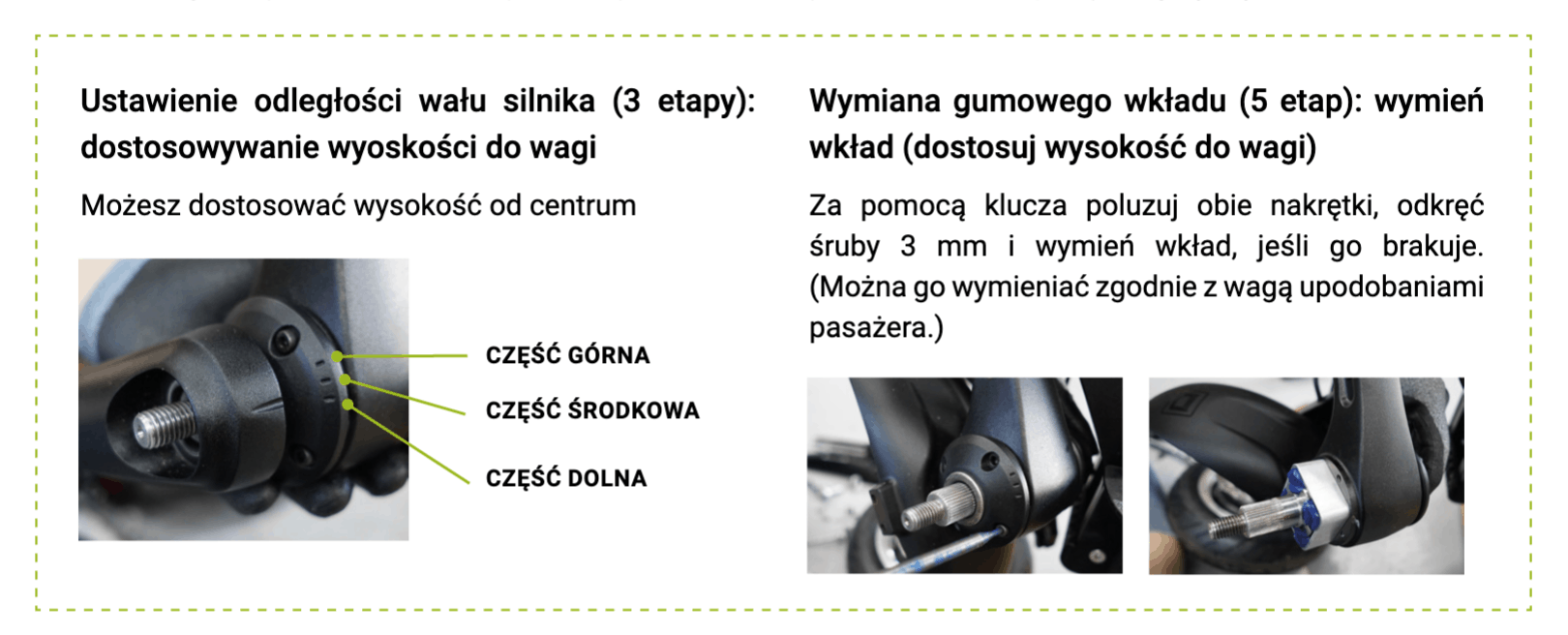 System regulacji zawieszenia Minimotors
